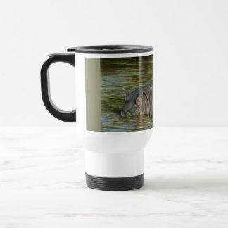 Flusspferd-Pendler-Reise-Tasse 15oz Reisebecher
