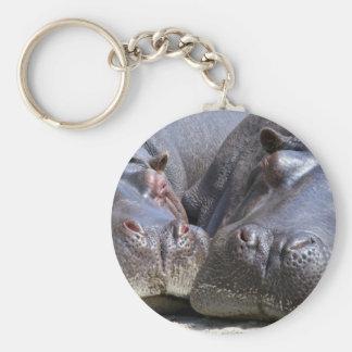 Flusspferd Schlüsselanhänger