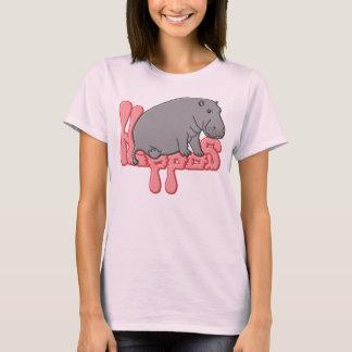 Flusspferd schwer - Rosa T-Shirt