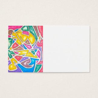Flusspferd-Stern-Hand gemaltes abstraktes Visitenkarte