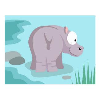Flusspferd von meinem Welttiere serie Postkarte