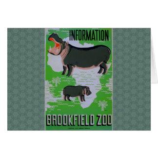 Flusspferde am Brookfield Zoo! Karte