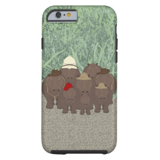 Flusspferde iPhone 6/6s, starker Telefon-Kasten Tough iPhone 6 Hülle