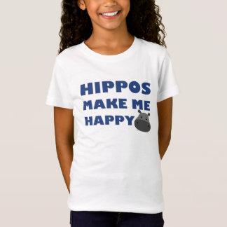 Flusspferde machen mich glücklich T-Shirt