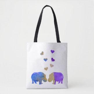 Flusspferde Tasche