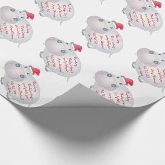 Flusspferdhippopotamus-Buchstabe von Geschenkpapierrolle