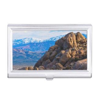 Flusssteine und Berge Visitenkarten Dose