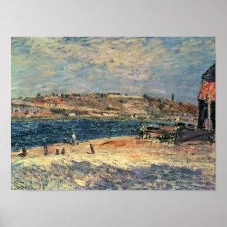 Flussufer Alfred Sisleys | am Heiligen-Mammes Poster