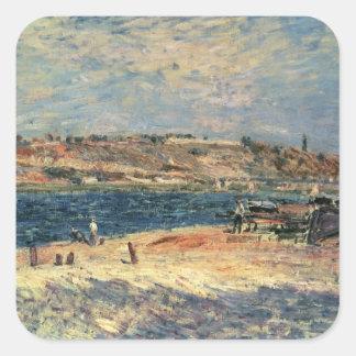 Flussufer Alfred Sisleys | am Heiligen-Mammes Quadratischer Aufkleber