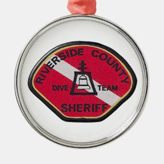 Flussufer-Sheriff-Tauchen-Team Silbernes Ornament