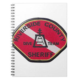 Flussufer-Sheriff-Tauchen-Team Spiral Notizblock