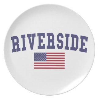 Flussufer US-Flagge Party Teller