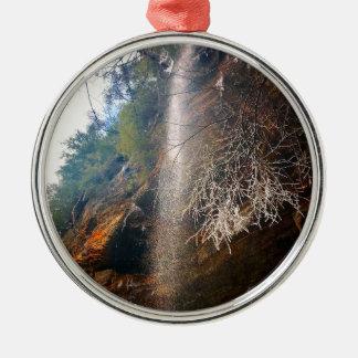 Flüstern von Fällen, Hocking Hügel Ohio Silbernes Ornament
