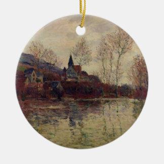 Fluten Claude Monets | bei Giverny Rundes Keramik Ornament