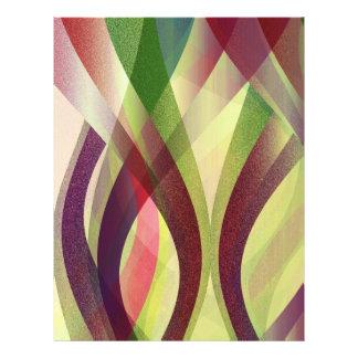 Flyer-abstrakter moderner Hintergrund 21,6 X 27,9 Cm Flyer