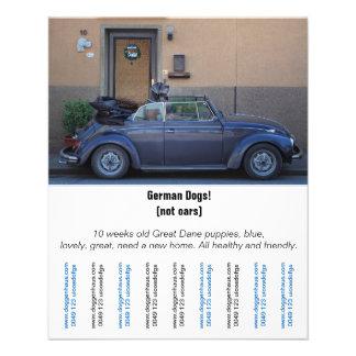 """Flyer """"Auto-Verkäufer """""""