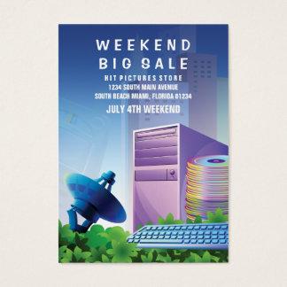 Flyer Hype Technology Sale Marketing Vertical Jumbo-Visitenkarten