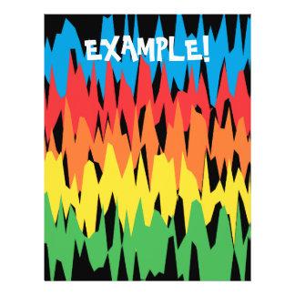 Flyer-Schablone: Farbwellen: Vektorkunst 21,6 X 27,9 Cm Flyer