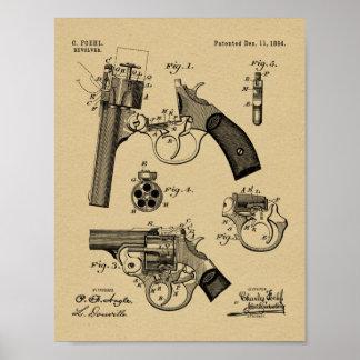 Foehl Gewehr-Patent-Kunst 1894, die Druck zeichnet Poster