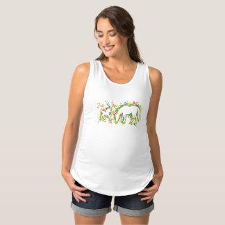 Fohlen mit Mamma-Spritzen Schwangerschafts Tank Top