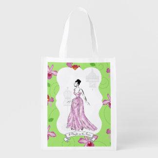 Fois à Paris-Mode-Illustration Wiederverwendbare Einkaufstasche