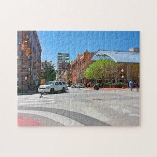 Fokus auf der Straße Puzzle
