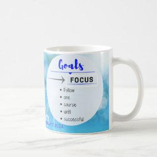 Fokus auf Ihren Zielen! Kaffeetasse