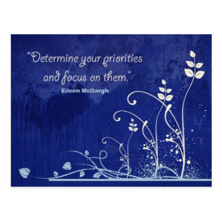 Fokus-Motivierend Zitatpostkarte Postkarte