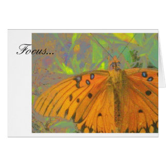 Fokus-Schmetterling Karte