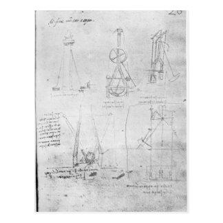 Fol. 20r von Paris-Manuskript B, 1488-90 Postkarte