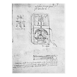 Fol. 54r von Paris-Manuskript B, 1488-90 Postkarte