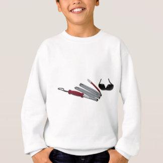 FoldedCaneBlindGlasses051211 Sweatshirt