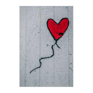 Folgen Sie Ihrem Herzen Acryldruck