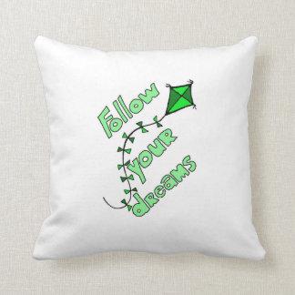 Folgen Sie Ihrem Traum-Kissen-Grün Kissen
