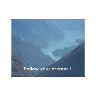 Folgen Sie Ihren Träumen Leinwanddruck
