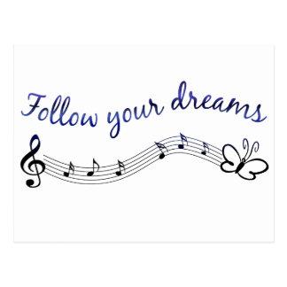 Folgen Sie Ihren Träumen Postkarte