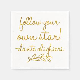 Folgen Sie Ihrer eigenen metallischen Stern Dante Papierserviette