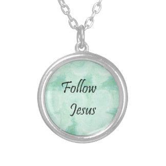 Folgen Sie Jesus Versilberte Kette