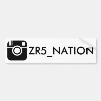 Folgen Sie @ZR5_NATION Weiß Autoaufkleber