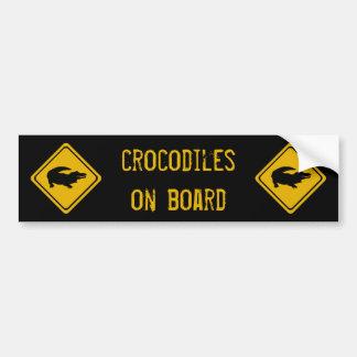 folgende 10 Kilometer-Krokodile Autoaufkleber