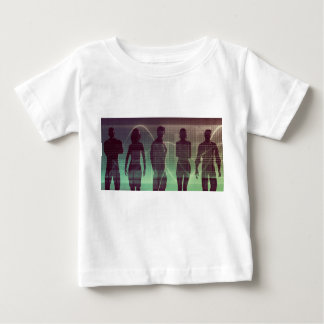 Folgende Generation der Arbeitskräfte wartete, um Baby T-shirt
