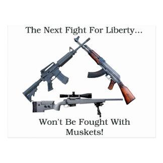 Folgender Kampf für Freiheit Postkarte