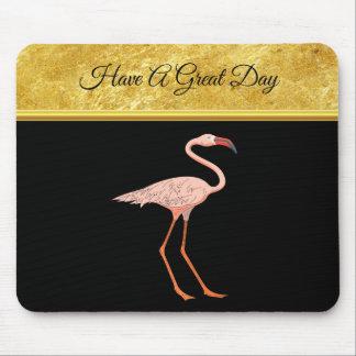 Folienbeschaffenheit 1 der rosa Flamingos stehende Mousepad