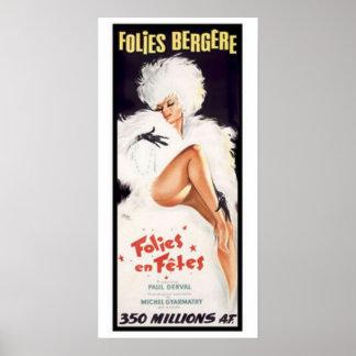 Folies-Bergere, Kabarett-Tanz-Theater Poster