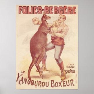 Folies Bergere -- Verpackenkänguruhs Poster