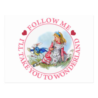 Follow-me, nehme ich Sie nach Märchenland Postkarte