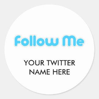 Follow-me (Twitter) Runder Aufkleber
