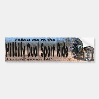 Follow-me zur Hinterwäldler-Doppelsport-Fahrt! Autoaufkleber
