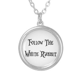 Follow the Whiter Rabbit Versilberte Kette