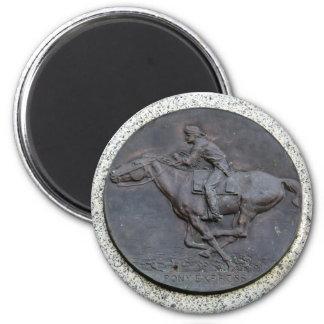 Folsom Ikone: Pony Express-Hintermarkierung Runder Magnet 5,1 Cm